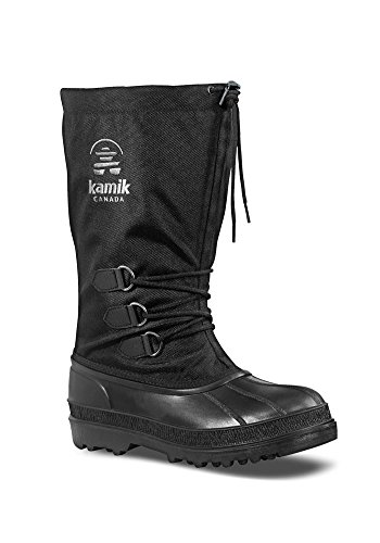 Kamik Men's Canuck Cold Weather Boot,Black,11 M (Kamik Winter Boots)