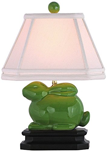 East Enterprises LPDAG6D8A Bunny Table Lamp - Apple - Bunny Accent Lamp Green