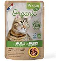 Plaisir Bio Complete Food for Cats,Chunks in Gravy with Poultry and Vegetables 100g