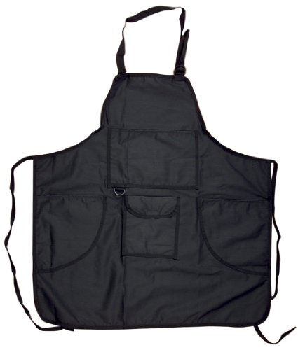 Tran 4-Pocket Canvas Artist Apron, Black