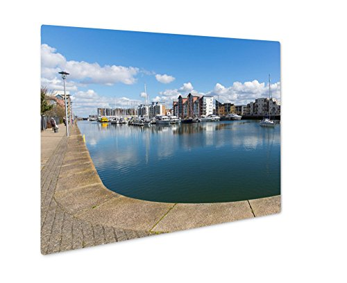 Ashley Giclee Metal Panel Print, Portishead Near Bristol Somerset England UK With Blue Sky On A Spring Day And, 8x10, - Bristol Times Sunset