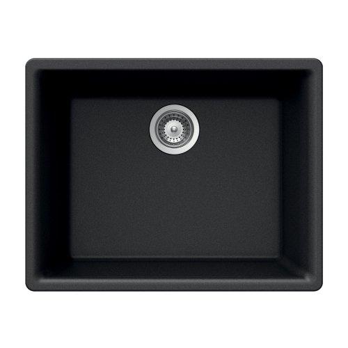 Houzer G-100U MIDNITE Quartztone Series Granite Undermount S
