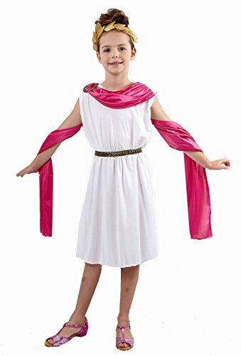 Rimi Hanger Girls Greek Goddess Roman Toga Dress Kids Ancient Book Week Egyptian Costume 7-9 Years