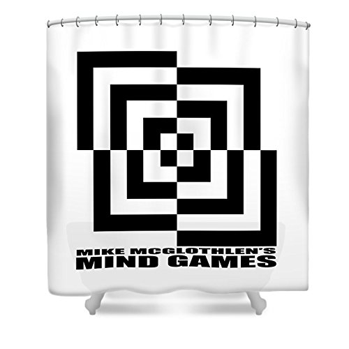 Pixels Shower Curtain (74'' x 71'') ''Mind Games 10se''
