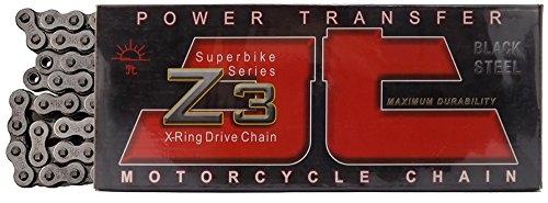 JT Sprockets 108 Link JTC530Z3108RL Steel 108-Link Super Heavy Duty X-Ring Drive Chain (530Z3)