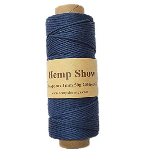 (Hempshow-100% Hemp Twine-50g-230feet (Navy))
