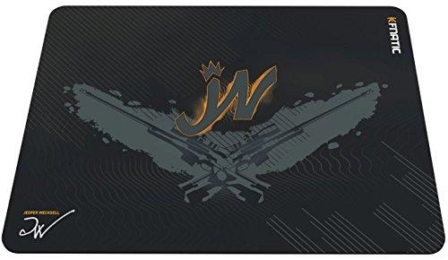 Fnatic Focus 2 JW Esports Alfombrilla de raton (L - 487x372x6mm) con la base de goma antideslizante resistente al agua, Superficie de tela suave, para Ordenador, PC, Laptop, Color negro, Tamano grande