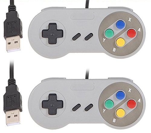 6 opinioni per DP DESIGN® SET 2 JOYPAD SNES USB CLASSICO GAME PAD CONTROLLER MAME RASPBERRY