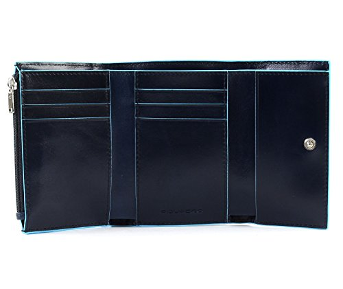 Blu With Piquadro Blue Flap Square Notte Wallet WqW41gX7