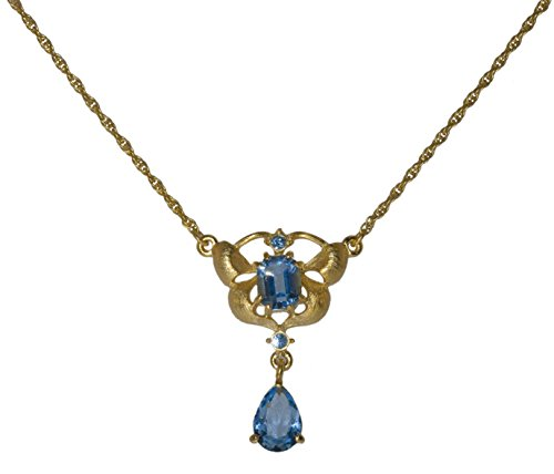 Inspired Treasures Orchid Delight Blue Pendant - Swarovski Crystal - Licensed by V&A Victoria and Albert Museum, ()