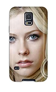 GEsKoGY622sLvzH Tpu Phone Case With Fashionable Look For Galaxy S5 - Celebrity Avril Lavigne