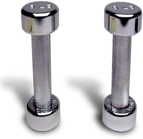 Ivanko Chrome Dumbbell 3 LB. Sold in Pairs
