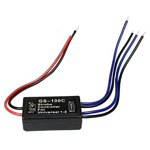 HUIQIAODS GS-100C Flash Strobe Controller Auto Car Flasher Module for LED Brake Light Tail Stop Light 12V
