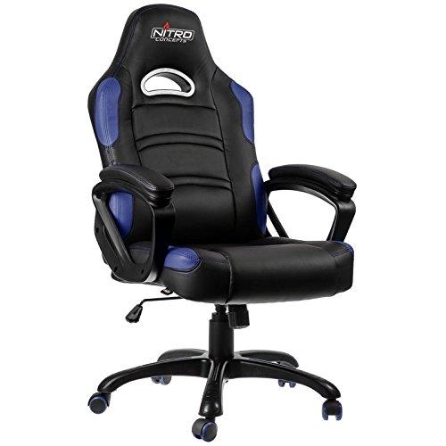 disfrutando de sus compras negro azul Nitro conceptos C80 Comfort Series Gaming Gaming Gaming silla multiColor multiColor negro azul  tienda en linea