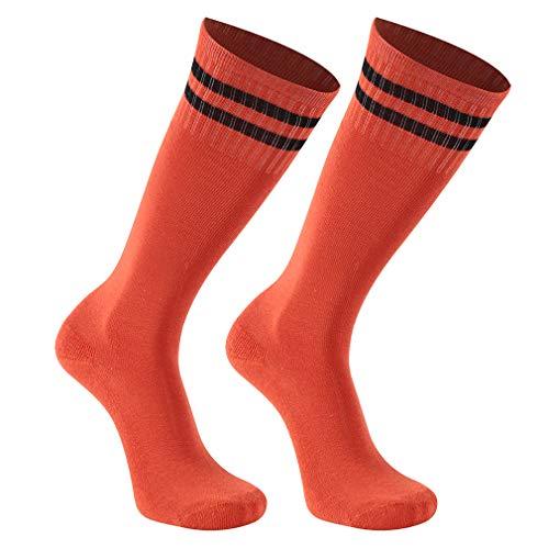 Softball Socks, transla wonder Teens Youth Kids Long Athletic Sport Tube Soccer Socks, 2 Pair, Orange]()