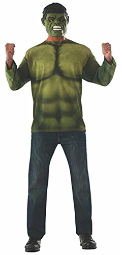Rubie's Men's Marvel Avengers Infinity War Hulk Costume Top and Mask, Standard ()