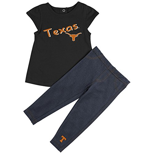 Colosseum University of Texas Longhorns Girls' Tee Shirt and Jeggings Set (12-18 M)