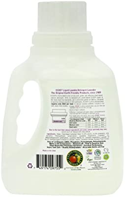 Earth Friendly Products Ecos Liquid Laundry Detergent, Lavender, 50 Ounce