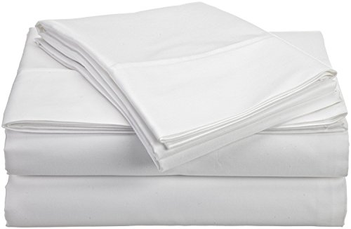 ACS Bedding 400 Thread Count Egyptian Cotton 4-Piece Sheet Set Cot Bed (30