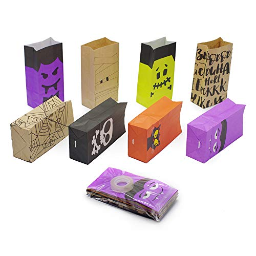 Halloween Paper Trick or Treat Goody Gags, 8 design, 40 pcs Candy Bags -