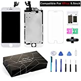 WDODO Compatible For iPhone 6 Plus Screen Replacement LCD Display Touch Digitizer Frame Assembly Full Repair Kit White