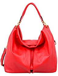 Mellow World Fashion Elsa Hobo Bag, Red, One Size