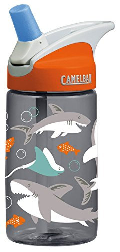 CamelBak Kids Eddy Water Bottle, 0.4 L, Sharks (Free Water Bottle)