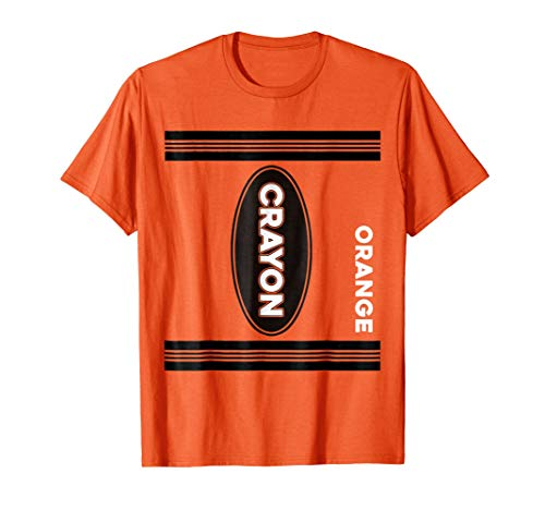 Crayon Costume Halloween T Shirt Orange Crayon Tee