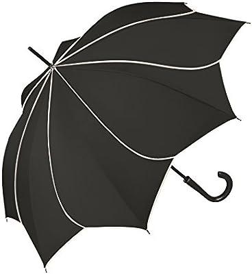 pierre cardin Regenschirm Taschenschirm Auf-Zu Automatik Sunflower schwarz