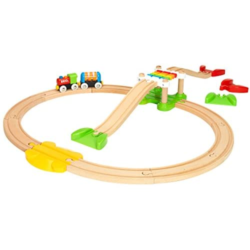 Brio My First Railway Beginner Pack Wooden Toy Train Set Made With