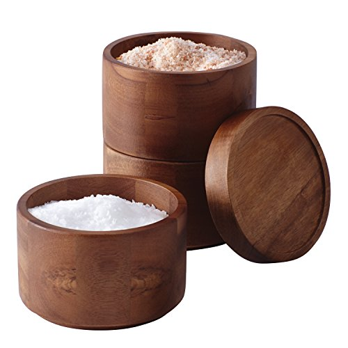 Rachael Ray Tools and Gadgets Wooden 3-Tier Stacking Salt ()