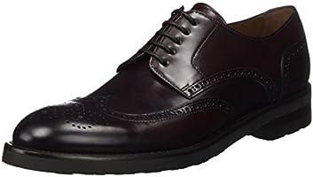 Lottusse L6911, Zapatos de Cordones Brogue para Hombre, Morado (Jocker Old Burdeos), 43 EU