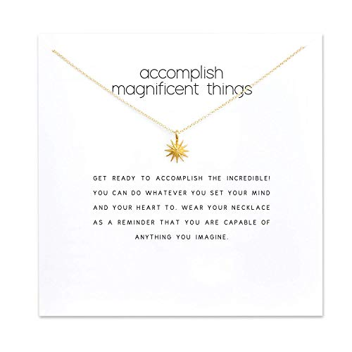 Dzhouqulim Accomplish Magnificent Starburst Necklace in Gold Dipped (Ring Adjustable Starburst)