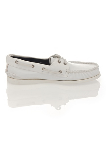 Sperry Top-Sider Men's Authentic Original 2-Eye Boat Shoes, Genuine All Leather and Non-Marking Rubber Outsole White/Canvas