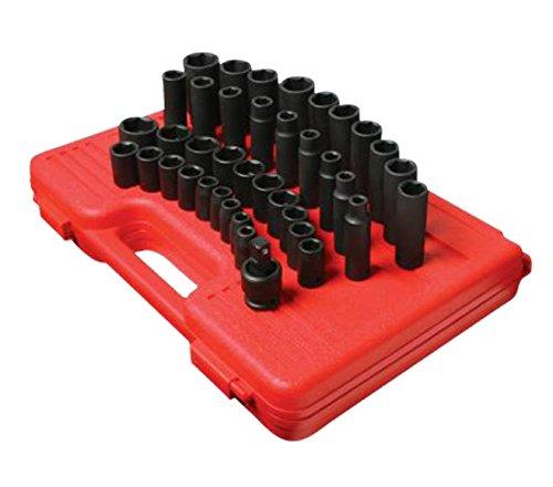 Sunex 2668 1/2-Inch Drive SAE Master Impact Socket Set, 39 Piece (Set Impact Socket Sae)