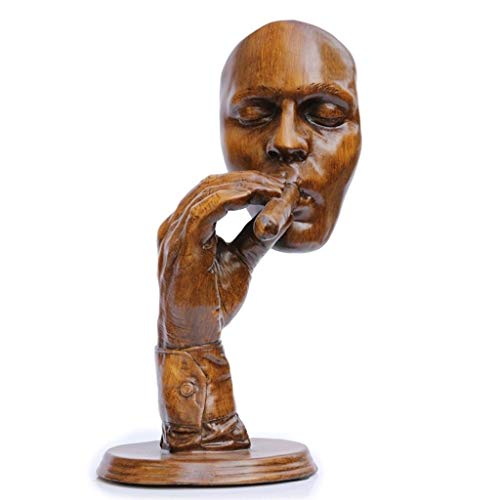 MSchunou The meditator's face, The Abstract Figure Sculpture Decoration, The Booth Decoration, Suitable for Various Home Decoration Styles