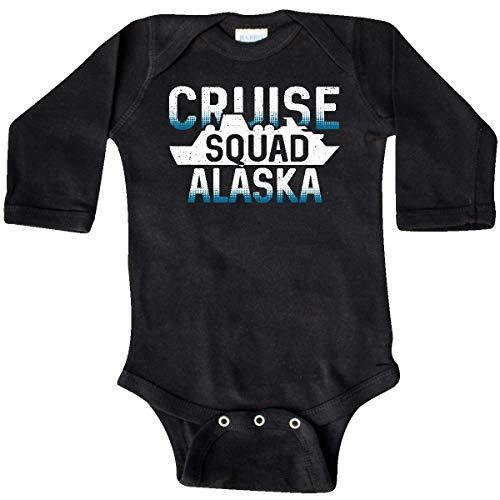 inktastic Alaska Cruise Squad Vacation Trip Long Sleeve Creeper 18 Months Black