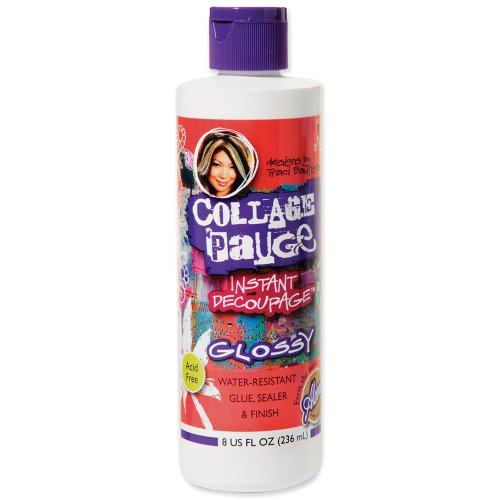 Aleene's Collage Pauge Instant Decoupage Medium, 8oz Gloss