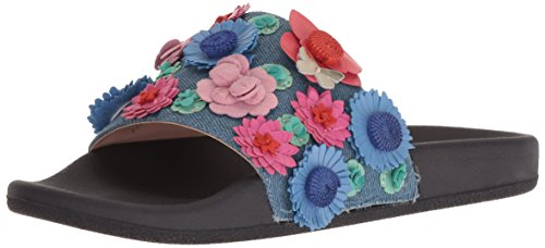 Kate Spade New York Women's Skye Slide Sandal, Light Blue Denim, 9.5 Medium US