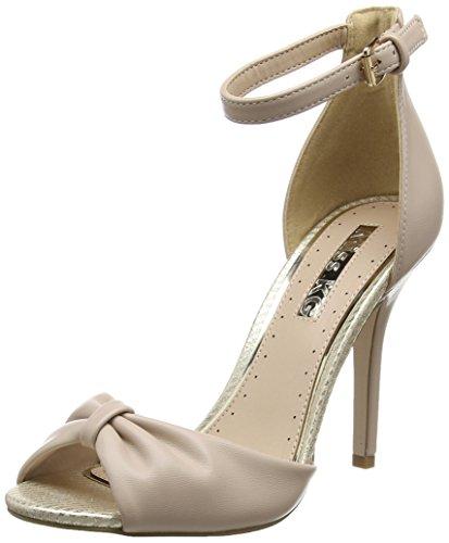 Miss Sara Women's KG Nude Open Beige Toe Heels ggAvR7x