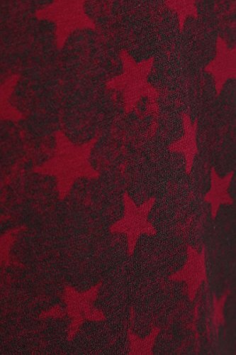 RED by EMP Star Shirt T-Shirt Femme Bordeaux/Noir XXL