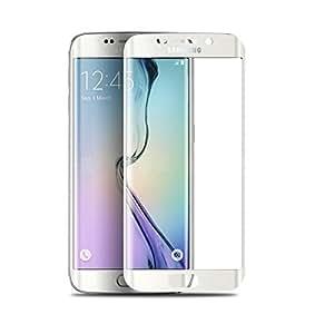 Protector Pantalla Vidrio Templado Con Cubierta bajera blanco para Samsung Galaxy S6EDGE PLUS + G928