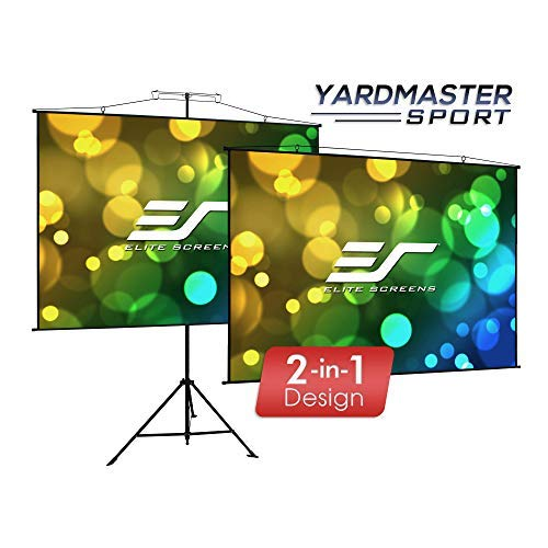 Elite Screens Yardmaster Sport Series, 2-in-1 Portable Indoor Outdoor Projector Screen, 110 INCH DIAG, with Carrying Bag, for Movie Home Theater Office, 8K / 4K Ultra HD 3D Ready, 2-Year Warranty