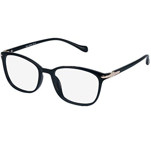 LifeArt Blue Light Blocking Glasses,Cut UV400 Transparent Lens,Computer Reading Glasses,Anti Eyestrain/Anti Scratch/Anti Smudgy,Sleep Better for Women/Men(LA_Nola_Black,No Magnification) ()