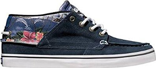 Globe Skateboard Shoes The Bender Blue Hawaii - Sneaker Skate Shoes, shoe size:44;color (shoes):Blue Hawaii