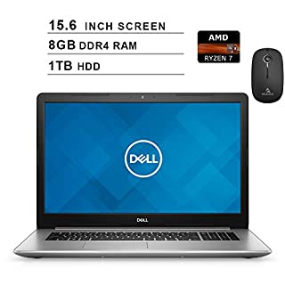 Dell 2020 Inspiron 15 5000 15.6 Inch FHD 1080P Laptop (AMD Ryzen 7 up to 3.8 GHz, 8GB RAM, 1TB HDD, AMD Radeon RX Vega 10, Windows 10) (Silver) + NexiGo Wireless Mouse Bundle