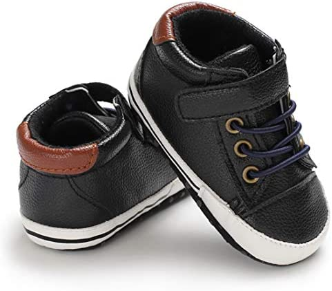 41ncRuwKYiL. AC - LAFEGEN Baby Boys Girls Oxford Dress Shoes Non Slip Lace Up Sneaker PU Leather Moccasins Newborn Infant Toddler Loafers First Walker Crib Shoes 3-18 Months