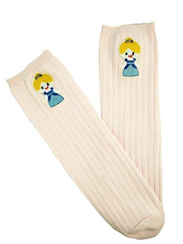 Haute 6 Imprimé Fille Coton Stocking De 2 Acvip Ans 1 Princesse Chaussette Socquette Enfant Petite En Genou Bleue Paire Claire Pour Rose wBUqXa