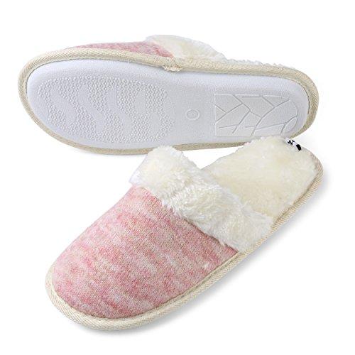 Pantofole Di Casa Morbida Di Aerusi Womans Rosa Twill