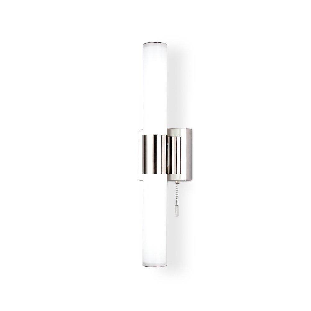 ECOBRT 18インチ クールホワイト10W LED電球 化粧台 照明器具 ステンレススチール クロムポリッシュ加工 6000K IP44 モダンなバスルーム 化粧台 前面ミラー照明器具 6110-10W B077BRVLFR 10581 シルバー シルバー